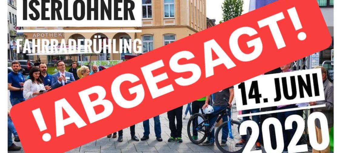 Iserlohner Fahrradfrühling 2020 abgesagt