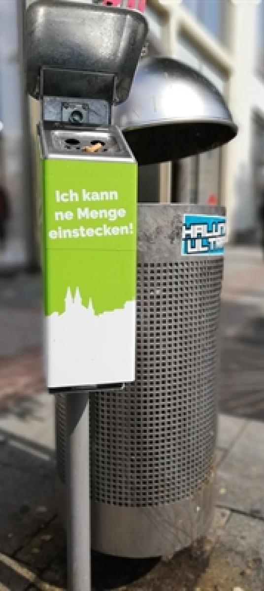 Aschenbecher für die Iserlohner Innenstadt